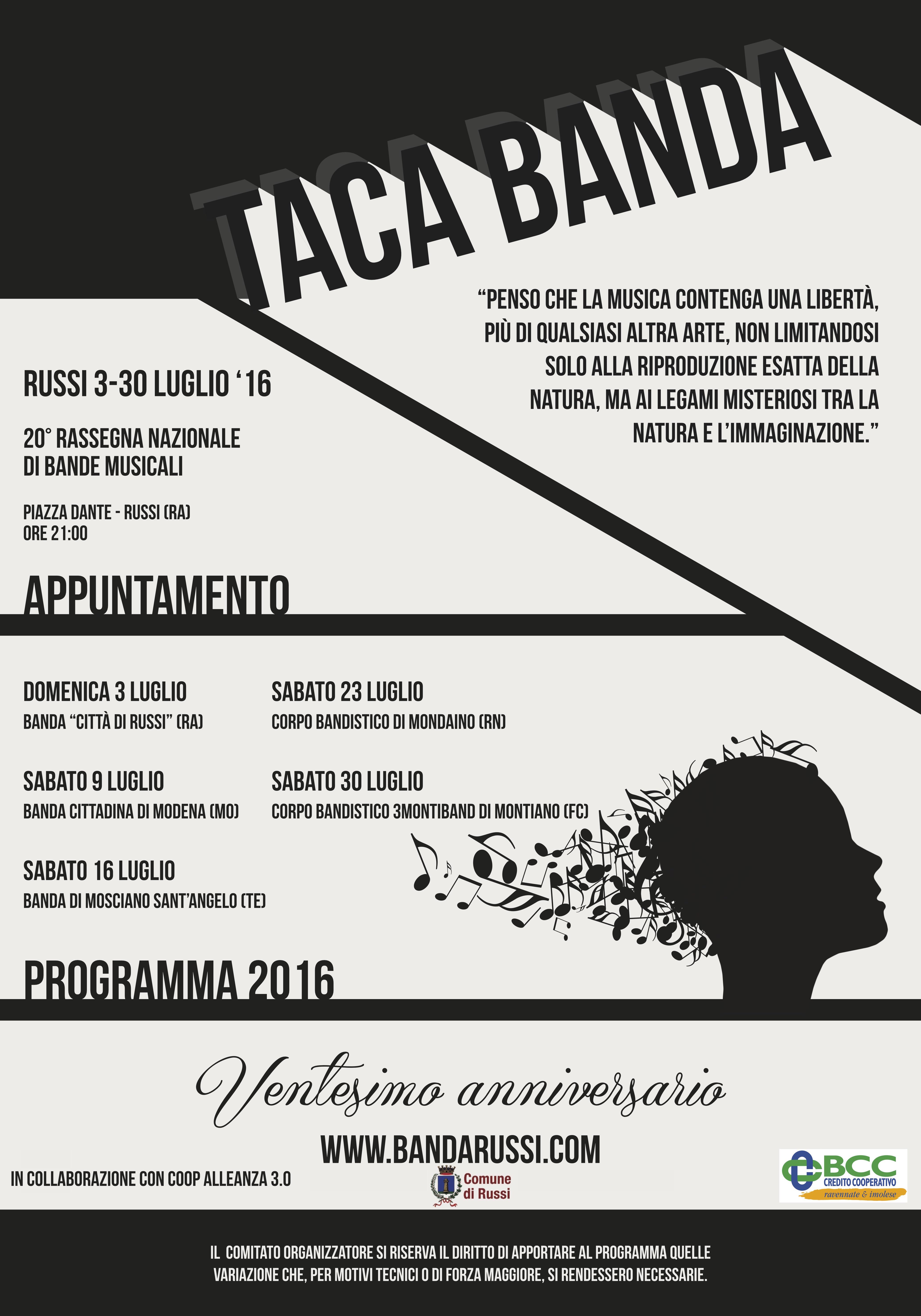 Manifesto TACA BANDA 70x100